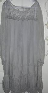 Pronto Moda Giusy silk dress (L)